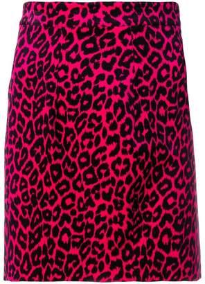 DSQUARED2 leopard print skirt