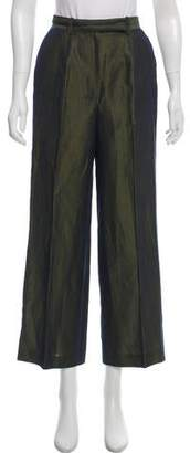Kenzo High-Rise Metallic Pants