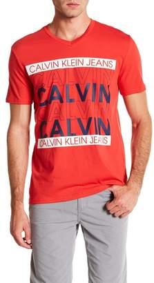 Calvin Klein Jeans Calvin Repeat V-Neck Tee