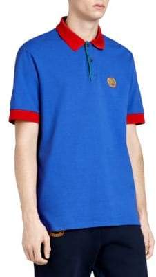 Burberry Color Block Embroidered Polo