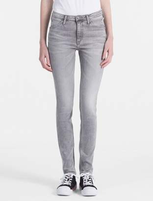 Calvin Klein sculpted high rise grey skinny jeans