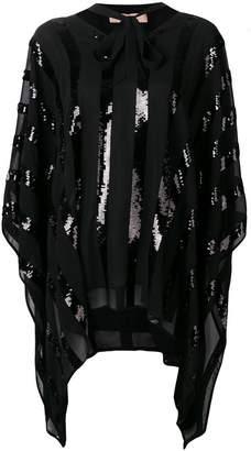 Twin-Set sequin paneled oversized blouse