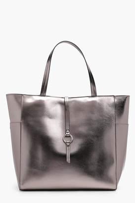 boohoo Megan Metallic Winged Tote Bag