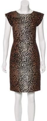 Derek Lam Animal Print Sheath Dress