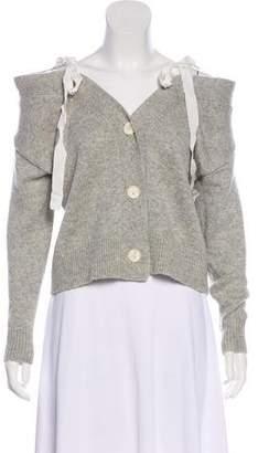 Cinq à Sept Wool-Blend Off-The-Shoulder Cardigan
