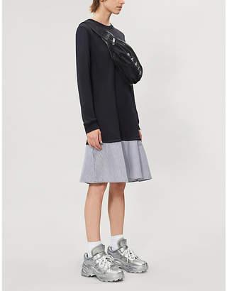 Kenzo Layered woven mini shirt dress