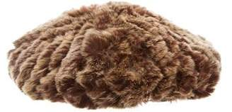 Helen Kaminski Fur Knit Bonnet w/ Tags