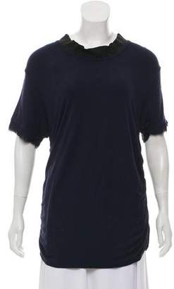Lanvin Accented Short Sleeve Top