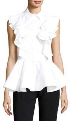 Antonio Berardi Ruffle Button-Front Top