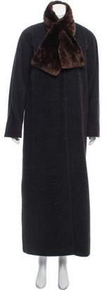 Isaac Mizrahi Fur-Trimmed Alpaca Coat