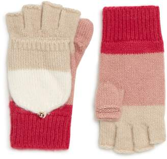 Kate Spade Brushed Knit Colorblock Convertible Mittens