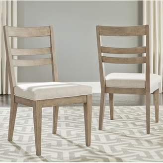Amina One Allium Way Contemporary Slat Back Upholstered Dining Chair (Set of 2)