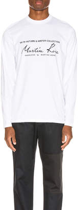 Martine Rose Long Sleeve Tee in White | FWRD