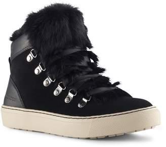 Cougar Dani High Top Sneaker with Genuine Rabbit Fur Trim