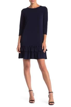 ECI Long Sleeve Ruffle Hem Dress
