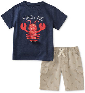 Kids Headquarters 2-Pc. Lobster-Print T-Shirt & Cargo Shorts Set, Baby Boys