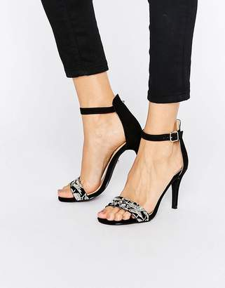 Oasis Embroidered Barely There Heeled Sandal $61 thestylecure.com
