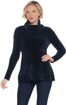 Halston H By H by Chenille Turtleneck Sweater