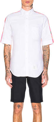 Thom Browne Classic Bicolor Point Collar Shirt