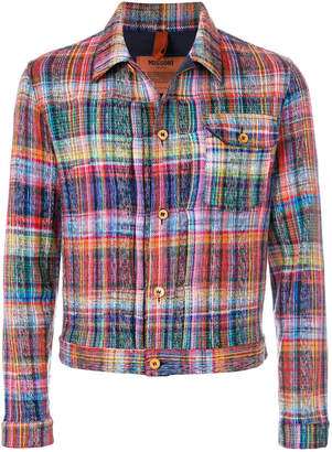 Missoni intarsia knit shirt jacket
