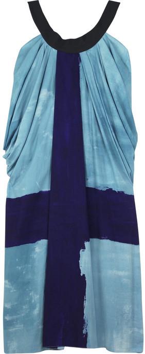 Vera Wang Striscia-print tank dress