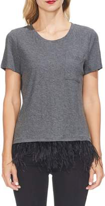 Vince Camuto Feather Hem Tee
