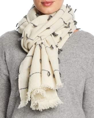 Fraas V Stitch Detail Wool Scarf