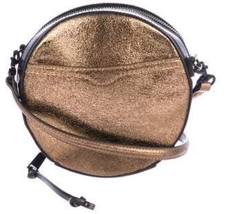 Rebecca Minkoff Metallic Leather Circle Shoulder Bag
