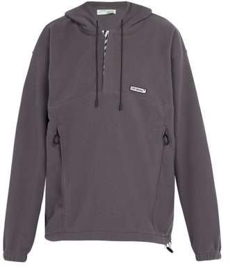 Off-White Polar Fleece Hooded Jacket - Mens - Grey