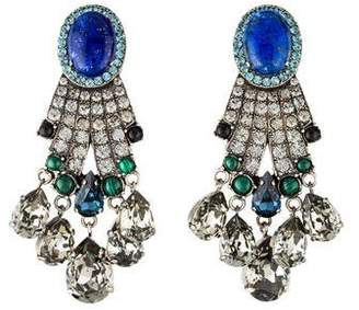 Lanvin Multistone & Crystal Chandelier Earrings