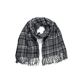 Jack and Jones NOS Men's Jacchecked Woven Scarf Ltd, Multicolour White