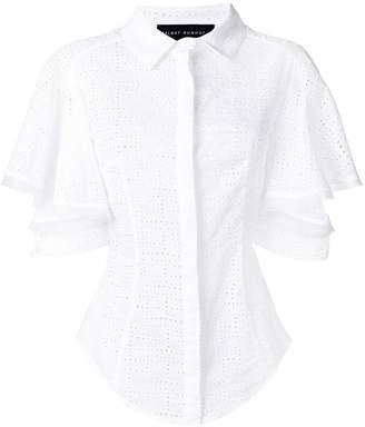 Talbot Runhof eyelet design blouse