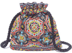 Alice + Olivia Rope Ornate Tile Crossbody Pouch Bag