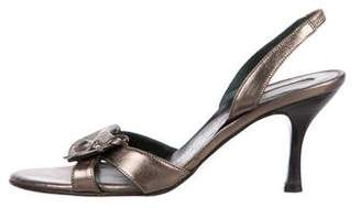 Salvatore Ferragamo Leather Slingback Sandals