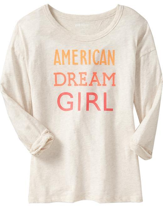Old Navy Women's Graphic Ruched-Sleeve Tees