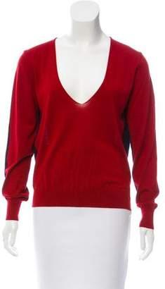 Balenciaga Two-Tone Cashmere Sweater
