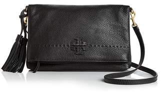 Tory Burch McGraw Fold-Over Leather Crossbody