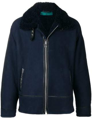 Paura front zip shearling jacket