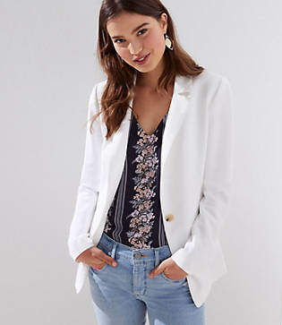LOFT Tall Textured Long Blazer