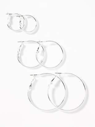 Old Navy Hoop Earrings 3-Pack for Women