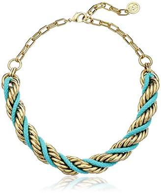 Ben-Amun Jewelry St. Tropez Cord Turquoise Gold Necklace