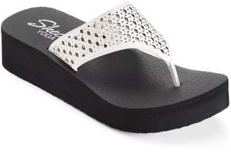 Skechers Vinyasa Women's Perforated Yoga Mat Wedge Flip-Flops