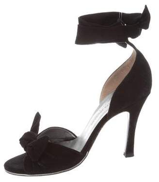 Charles Jourdan Suede Tie Sandals