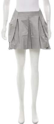 Toga Pleated Metallic Skirt