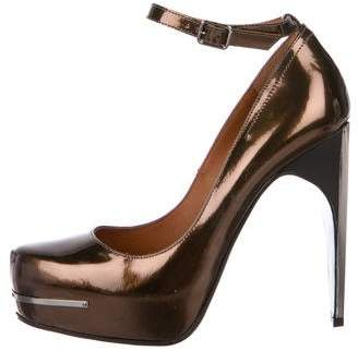 Lanvin Metallic Patent Leather Pumps