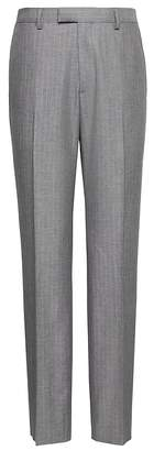 Banana Republic Slim Gray Pinstripe Italian Cotton Suit Pant