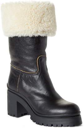 Miu Miu Nevermind Genuine Shearling Cuff Boot