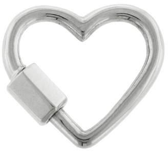 Marla Aaron Baby Heart Lock - White Gold