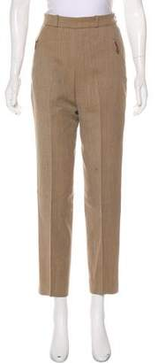 Hermes High-Waist Straight-Leg Pants