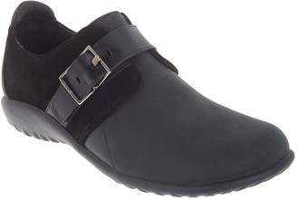 Naot Footwear Leather Flats with Buckle Detail - Tane